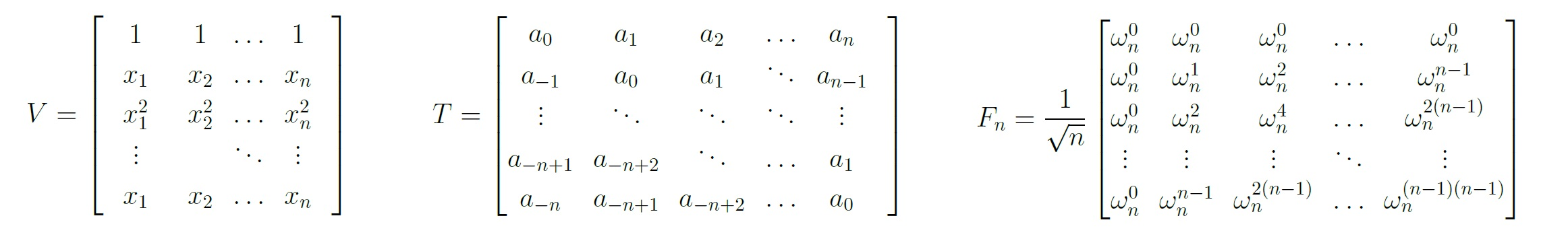 STRUCTURED MATRICES